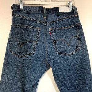 RE/DONE Levi's High Rise dark blue denim jeans